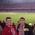 Con mi padre en el Camp Nou